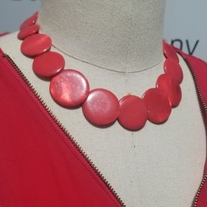 Vintage Jewelry - Red Vintage Necklace